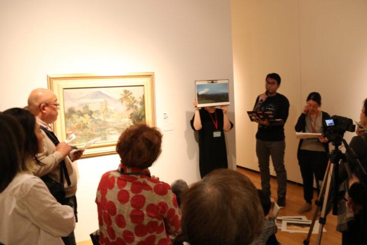 トーク「レオナルド・バルトロメウスさんとめぐるインドネシア風景画の旅」の様子