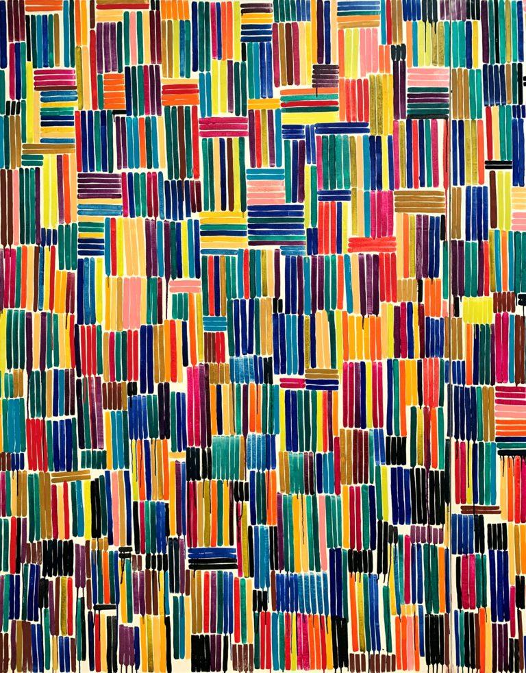 孫雅由/ソン・アユ(韓国・日本)「色の位置OC87-14」1987年(部分)