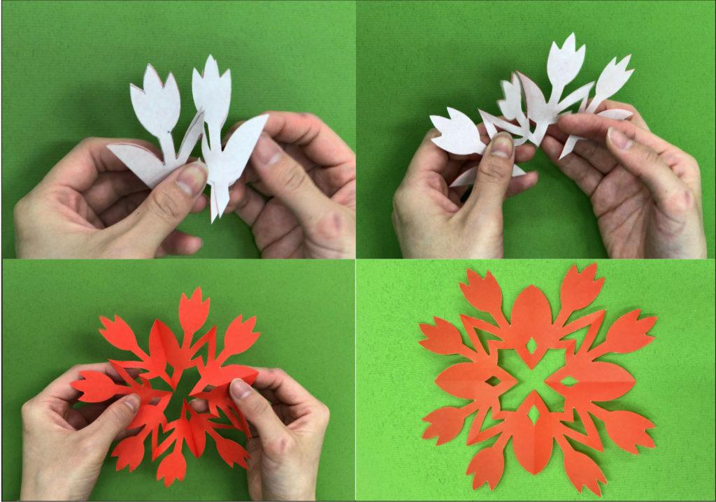 【初級編】 中国の剪紙(せんし)を作ろう! 2003年にアジ美に滞在した中国のアーティスト、リュウ・リユン/劉立蘊(Liu Liyun)が親子向けにおこなったワークショップです。剪紙とは、中国でお祝いの時に赤い紙を切って飾る伝統的な芸術。今回は花をモチーフにした模様を切り抜きます!