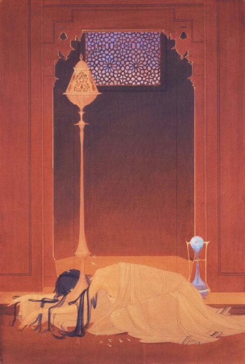あじコレX①1417アブドゥル・ラハマーン・チュグターイー(パキスタン)≪消えた炎≫1920年代